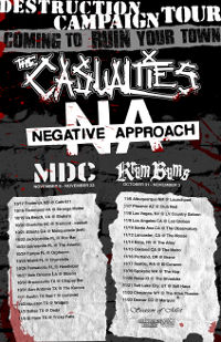 The Casualties Announce Co-Headlining Tour With Negative Approach