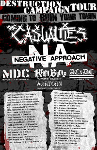 The Casualties Reveal New Tour Details