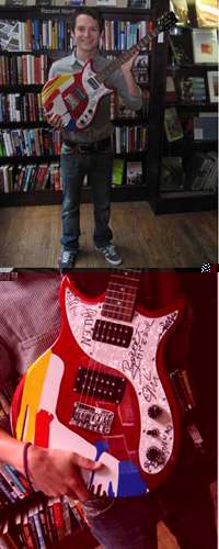 The Apples In Stereo And Elijah Wood Support Housing Works Bookstore Cafe With Custom Guitar Auction