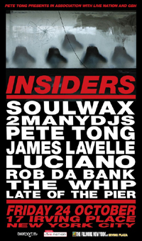 DJ Pete Tong Rallies 2ManyDJs, James Lavelle, Others For Insiders Show