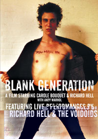 Blank Generation (1980): A Film Starring Richard Hell Coming To DVD